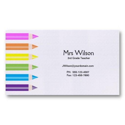 17 best ideas about Teacher Business Cards on Pinterest ...