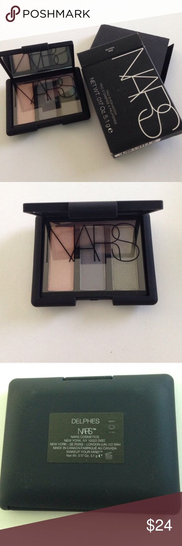 New Authentic NARS Eyeshadow Duo Delphes Brand New Authentic NARS Eyeshadow Duo Delphes in original packaging. Never swatched. No trades. NARS Makeup Eyeshadow