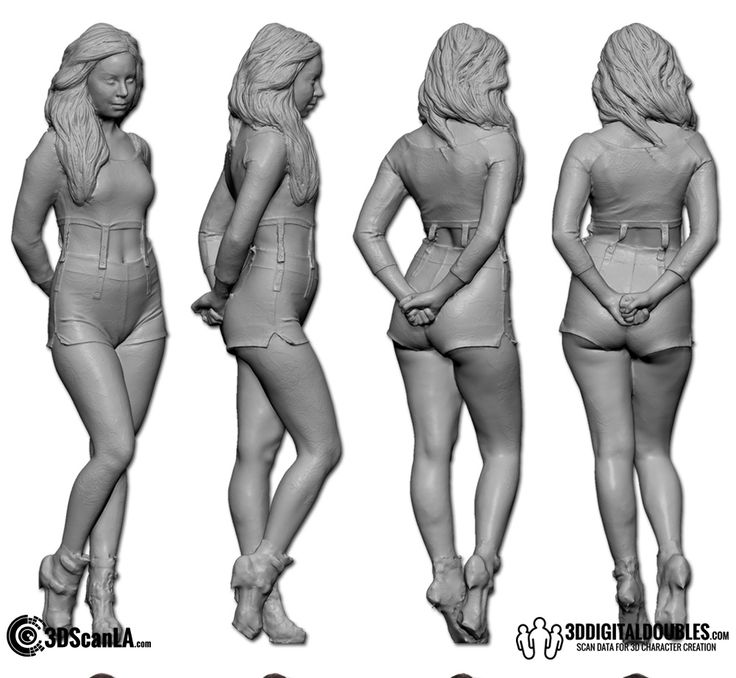 3D Head and Body Scanning for 3D Character Design | Female Body Scan; 24-08