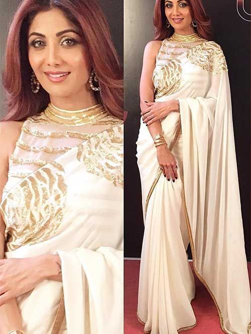 Shilpa Shetty in Beautiful Embroidered Georgette Saree | Worldwide Shipping | Free shipping only in India | Contact us/whats app us on : +91 9898133588 ,+91 7990485004 | Visit Now : www.grabandpack.com | For Our Daily Updates Ping us on Whatsapp +91 9898133588 | #Saree #sari #embroideredsaree #replicas #quality #onlineshopping #onlinesale #diwalisale #diwalishopping #traditional #lowrates #shilpa #shilpashetty