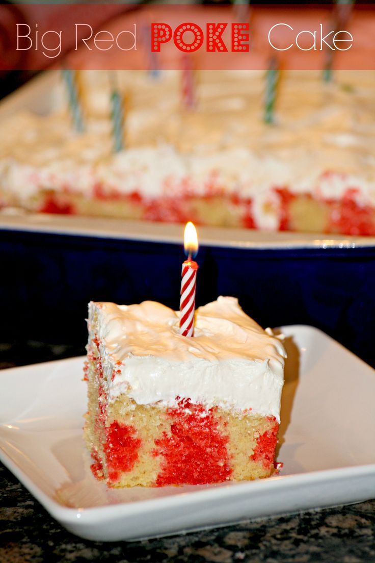 Big Red Poke Cake @addicted2recipe