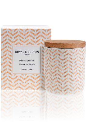 Royal Doulton Pastels Mimosa Blossom Candle