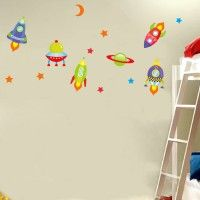 Space Ships and Planets decal. Wall stickers are available at www.kidzdecor.co.za. Free postage throughout South Africa