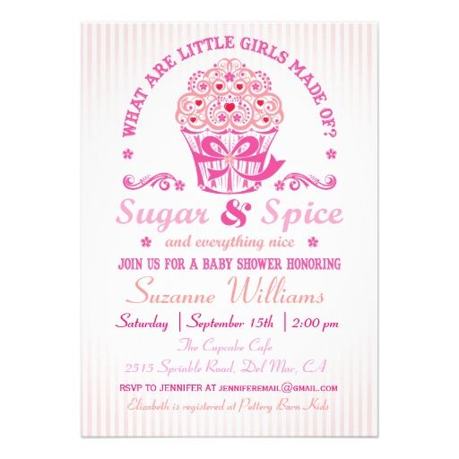 40 best images about sugar & spice & everything nice baby shower, Baby shower invitations