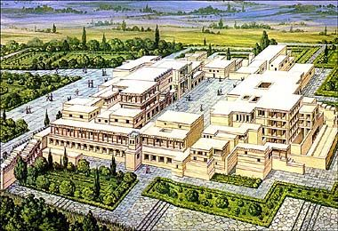Moja Grecja - Kultura i sztuka - Architektura - Pałace Krety i Myken