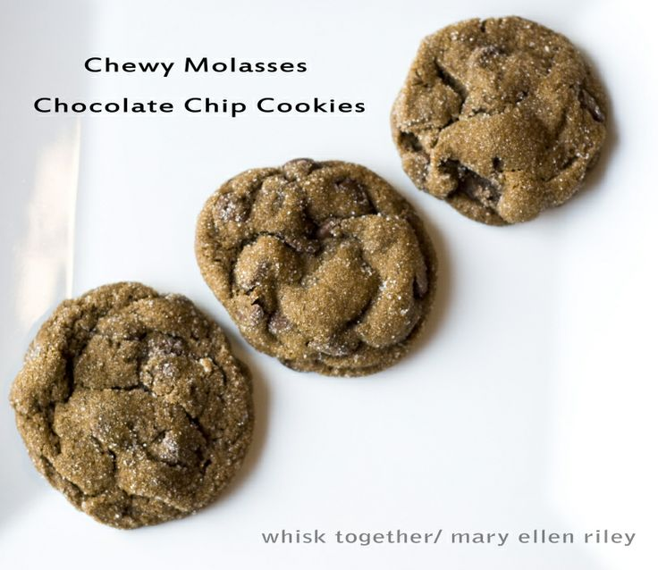 Chewy Gingerbread Chocolate Chip Cookies | Cupcakery and more | Pinte ...