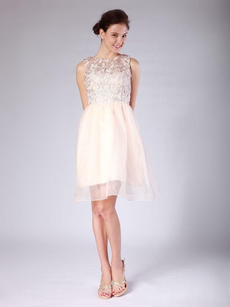 Lace Organza Bridesmaid Dress
