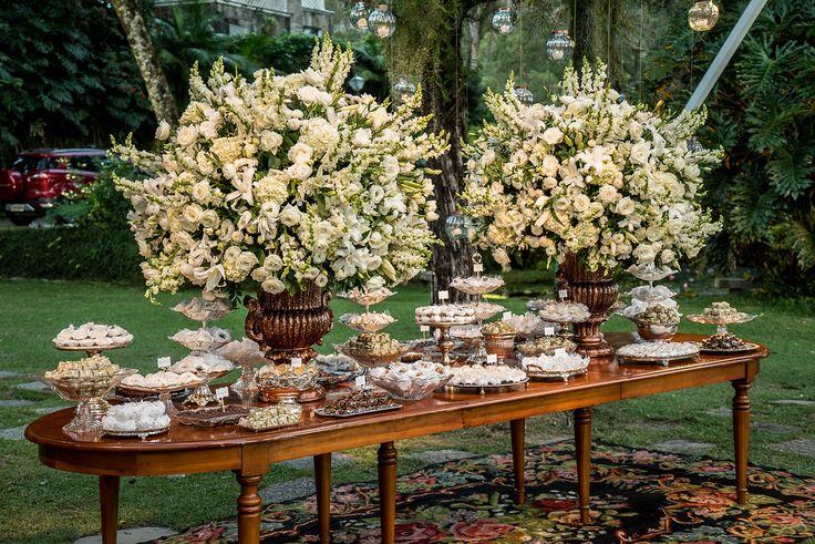 Mesa de doces - Casamento Rústico-chique