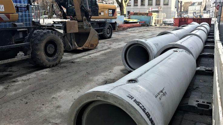 Duisburg Meiderich: Kanalbaumaßnahmen in vollem Gange