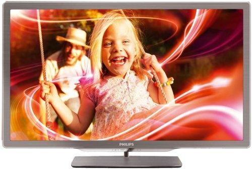Philips 47PFL7606K/02 119 cm (47 Zoll) Ambilight 3D LED-Backlight-Fernseher, Energieeffizienzklasse A+ (Full-HD, 400 Hz PMR, DVB-T/C/S, Smart TV) silbergrau