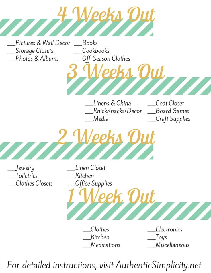 When to Pack What When Moving- tips for a DIY move w/printable
