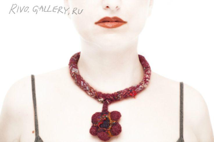 wool necklace, (c) Natalia Rivo from Rivo.Gallery - BamBOOSЫ в наличии -