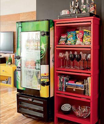 geladeira na sala