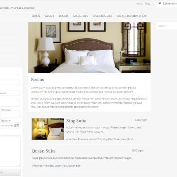 Plantilla WordPress gratis para Pensiones Hoteles y Casas Rurales