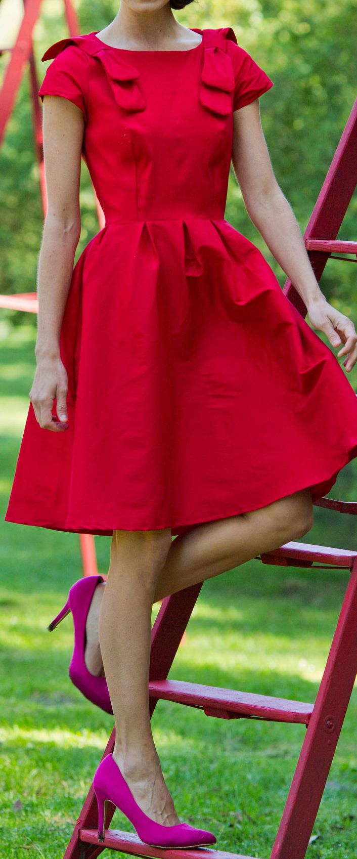 fur parka Scarlet swing dress  Lovely dresses and flirty skirts