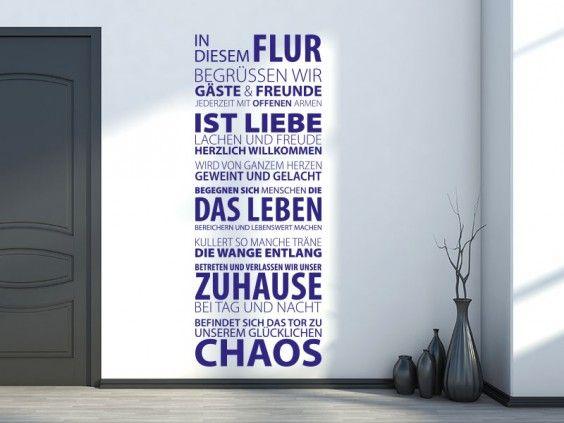 Mit diesem originellen Wandtattoo Wandbanner gestalten Sie Ihren Flur oder Eingangsbereich ganz im Zeichen von Freunde, Gäste, Zuhause und Liebe.