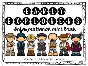 Learn about the early explorers by using this informational mini book. Each of the 7 explorers has a page-long biography, as well as a page with a picture, heading, and lines for notes. Explorers Included: Cabot Columbus Magellan Cartier Hudson Cortes Ponce de Leon