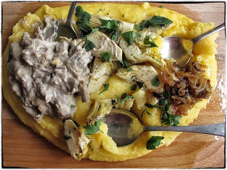 ... parmesan, Braised endives, leeks, cardoons, Grilled fennel slices