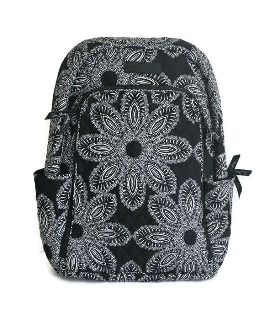 Vera Bradley LAPTOP BACKPACK Tech Bag ~ BLANCO BOUQUET Black & White ~ New/NWT | eBay