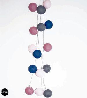 Livink - Old rose/blue mix string light
