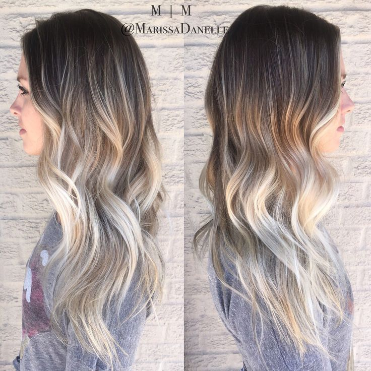 platinum balayage on dark hair. Black Bedroom Furniture Sets. Home Design Ideas