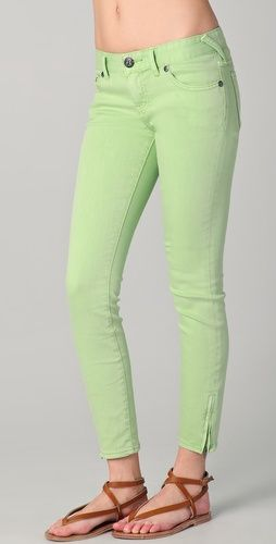 Free People Milenium Cropped Colored Skinny Jeans #r29summerstyle