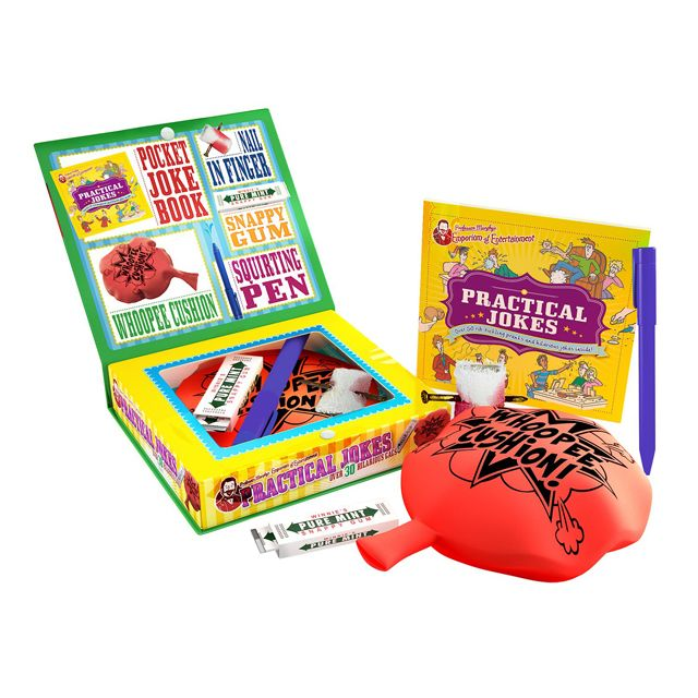 With Professor Murphy's Practical Jokes kit you'll now find it easy to be the world's best jokester! Ready for pranksters of all ages Professor Murphy has searched the world gathering together over 50 classic and hilarious gags in his ultimate practical jokes kit.