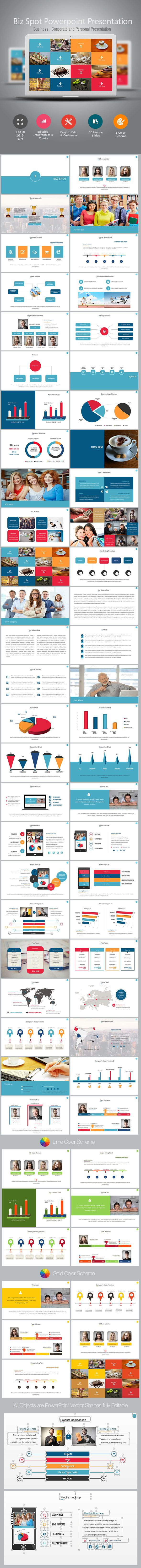 Biz Spot Power Point Presentation (PowerPoint Templates)