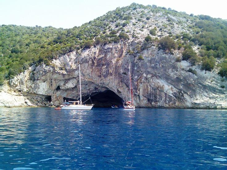 Papanikoli Cave, Meganisi, Greece