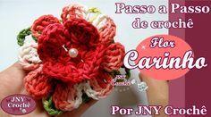 Passo a Passo de Crochê Flor carinho por JNY Crochê