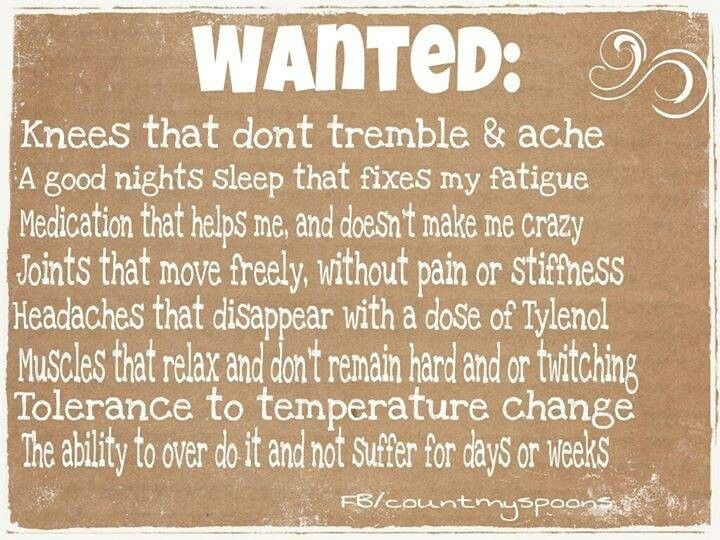 """""""Wanted"""" quote for those living with chronic illnesses / chronic pain"""