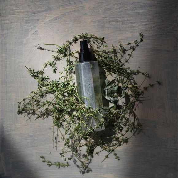 DIY All-Natural Bug Spray:  Witch hazel Mixture of essential oils: Choose from rosemary, thyme, mint, cedar, lavender, catnip, citronella, tea tree, and lemongrass — citrusy and minty scents work best Distilled water Vegetable glycerin