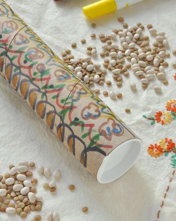 Make Your Own Rainstick - we're doing this with foil, old rice, thick fabric (for the ends), and washi tape.