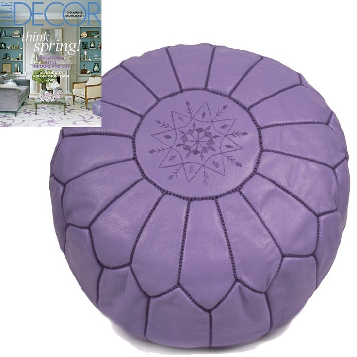 purple leather moroccan pouf sharing luxury designer home decor inspirations and ideas for beautiful living - Purple Home Decor