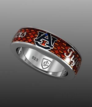 "Auburn Orange ""Tigers"" Band - I would love this ring!"