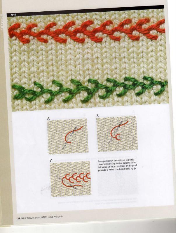 вышивка на вязаном полотне схемы швов вышивка вышивка вязание