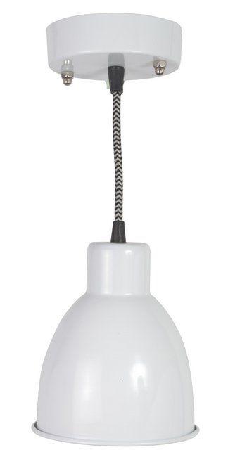 Klassisk og tidløs loftlampe i hvid lakeret metal fra ib laursen ...
