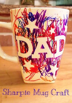 LOVE! So cute for Daddy :) Sharpie Mug Craft | Handmade Christmas Gift Ideas for Dad by @jbc154