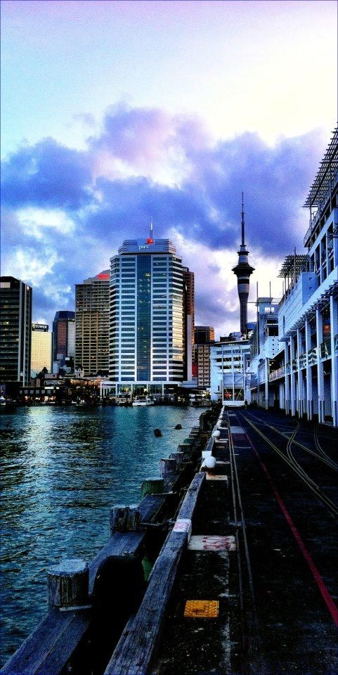 Viaduct Harbour in Auckland, New Zealand.