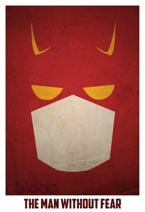 Bloops superhero posters - Daredevil