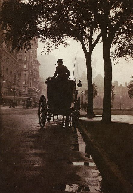 I HAVE OFTEN WALKED DOWN THIS STREET BEFORE....--SLA   Central Park, New York, c. 1900, from Anonymous by Robert Flynn Johnson