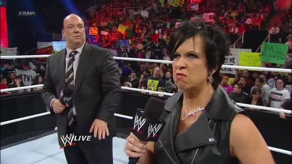 Even if your name is Dwayne The Rock Johnson, you WILL respect Vickie Guerrero's authority!