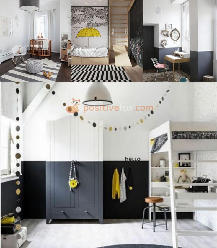 Small Spaces Scandinavian Kids Rooms. Nordic Design Ideas With Best Examples. Explore more Scandinavian Kids Rooms on https://positivefox.com #smallspaceskidsrooms #scandinaviankidsroom #kidsroomideas #scandinaviankidsroomideas #interiordesign #collage #homeideas #homesmallspaces #smallspaces #nordicdesignideas #nordickidsroom #nordicinterior #scandinavianinterior #whiteandblackkidsroom