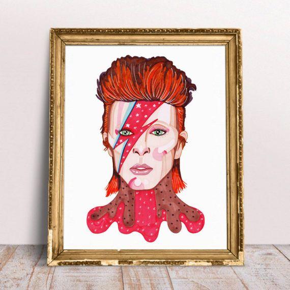 Ziggy Stardust  David Bowie Portrait A4 A5 bowie portrait