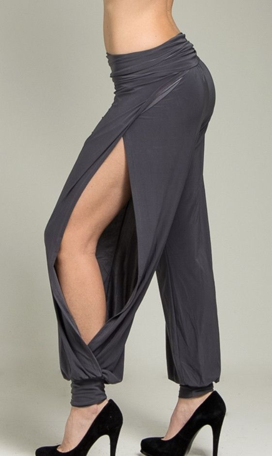 Open Sides Charcoal Pants