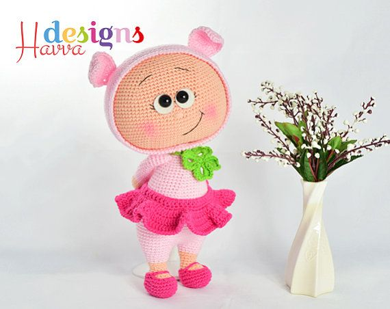PATTERN   Bonnie With Pig Costume by HavvaDesigns on Etsy