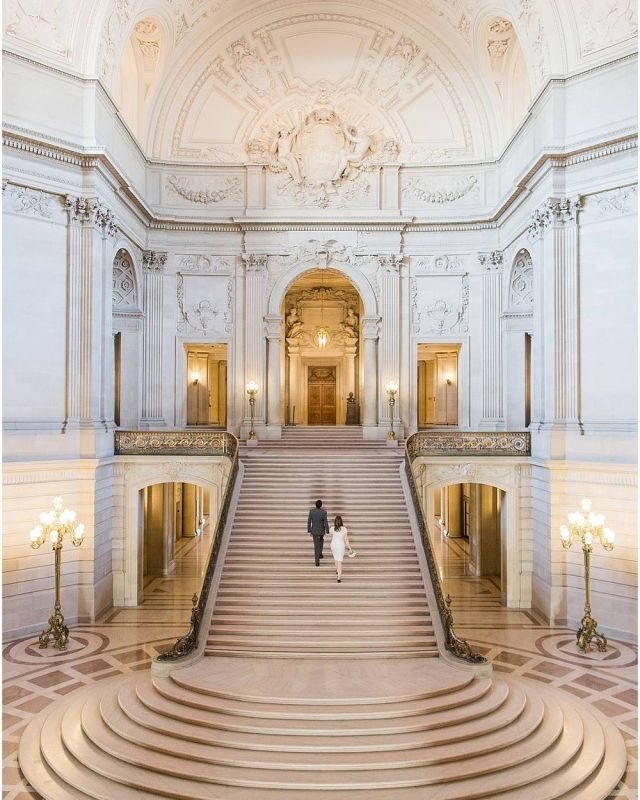 Grand staircase in San Francisco's City Hall