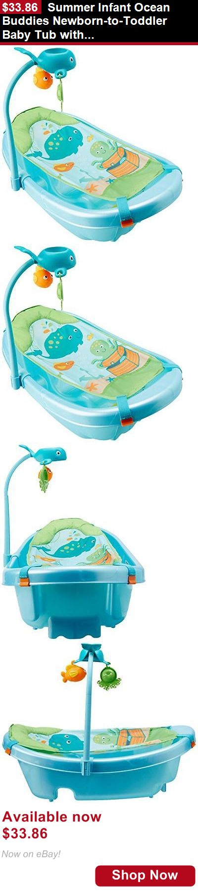 Baby Bath Tubs: Summer Infant Ocean Buddies Newborn-To-Toddler Baby Tub With Toy Bar, New, Free BUY IT NOW ONLY: $33.86