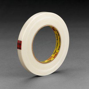 #Scotch Filament #Tape #8981 is a clear polypropylene backing reinforced with glass yarn filaments with a synthetic rubber resin adhesive. High strength #filament reinforced strapping tape for L-clip box closing applications, reinforcement of five panel folder, full overlap, full telescoping and clam-shell corrugated boxes. Synthetic rubber adhesive has good shear strength to fiber board surfaces for bundling, strapping and reinforcing applications.