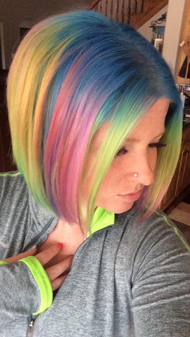 1172 rainbow of hair